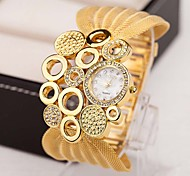 Women Watches Gold Watch Women Fashion Alloy Crystal Bracelet Quartz Watch Montre Femme