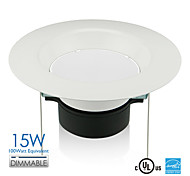 Vanlite 5inch& 6inch 15W LED Downlight Recessed Dimmable Designed for US 120watt Equivalent