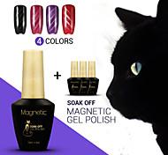 4pcs azuis / lot uv olhos de gato magnéticos gel gel unha polonês verniz mergulhar off uv unhas de gel beleza (# 55 + 56 + # # # 57 + 58)