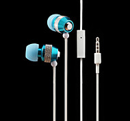 Super Bass Metal In Ear Headphones Music Earphone with Microphone iPhone 6 Samsung LG
