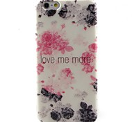 Black Flowers Pattern TPU Material Phone Case for iPhone 6