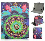 cuoio dell'unità di elaborazione modello di farfalla di alta qualità con il caso del basamento per 7 pollici e 8 pollici tablet universale