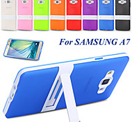For Galaxy A7 Stand Capa Ultra Thin Soft TPU Rubber Mobile Phone Case For Samsung Galaxy A7 7000 White Frame Back Cover