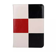 Genuine Leather Special Design Grid Pattern Mixed Color Auto Sleep/Wake UP For iPad Air 2