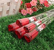 5PCS High Quality Silk Rose Heart-Shaped Pearl Cartoon Bear Wedding Flower (5Pcs)