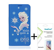 Disney Frozen Princess Elsa Cover Case for Samsung S6 Free with Headfore Screen Protector for Samsung S6