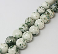 Beadia 39Cm/Str (Approx 39Pcs) Natural Tree Agate Beads 10mm Round Stone Loose Beads DIY Accessories