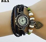 Women's Simplicity Love Quartz Analog  Leather Wrist Watch(Assorted Colors)