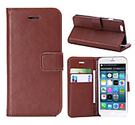 Crazy Horse Texture PU Leather Flip Case for iPhone 6