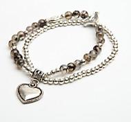 cristal pulsera de cadena de la mujer