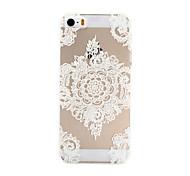 branco padrão pc caso de telefone material para iPhone 5 / 5s