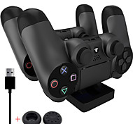 PS4 Charging Station - Dual USB Charger Dock Station for PS4 (Send A Pair Thumb Stick Grips Cap)