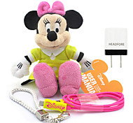 Disney Minnie Plush Cotton Doll Power Bank External Battery For Iphone , Samsung And Any USB Device