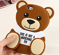 Silicone Material Cute Bear design for iPhone 6/6S