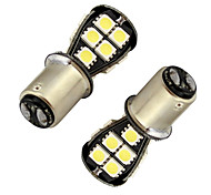 2pcs Ding Yao 1156 SMD5050 18LED canbus decodificar la luz roja del freno blanco