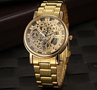 Men's Dress Watch Elegant Hollow Design Quartz Gold Steel Strap Wrist Watch Cool Watch Unique Watch Fashion Watch