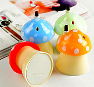 Delicate Automatic Mushroom Toothpick Box Holder Home Kitchen (Random Color)