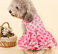 Blue/Pink Wedding Cotton Dresses For Dogs