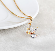 Women's 18K Gold Plated Romantic Butterfly Crystal Necklaces
