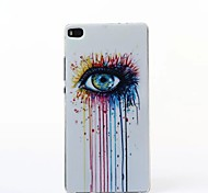 Eyes Pattern TPU Soft Case for Huawei P8