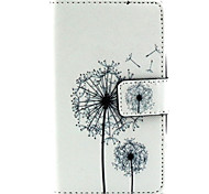 Dandelion Pattern PU Leather Painted Phone Case For Nokia N435