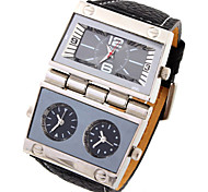 Men'S Watch High Quality Outdoor Sports Watch Japanese Quartz Watches Waterproof Leather Watch