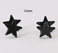 12mm Star Stainless Steel Earrings