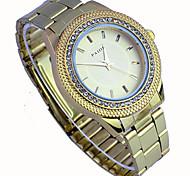 orologio quadrante moda oro diamante di lusso delle donne