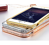 Luxury Bling Diamond Rhinestone Bumper Case for iPhone 6 4.7 Inch  Aluminum Metal Frame Cover For iPhone 6 4.7 Inch