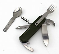 Fashion ABS/Stainless Steel Bottle Opener/Spoon/Fork Multitools Outdoor/Camping/Travel/Combined Tool