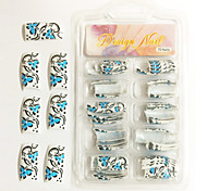 70 Pcs Half-cover French Acrylic Nails Tips 17 Colors Available