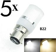 G9 / GU10 / E14 / B22 / 5W e2627 15x5630smd 450lm 3500k 6000k blancs ampoules blanc chaud / froid maison / bureau maïs AC110-240V 5pcs