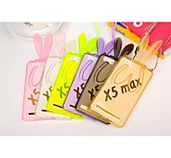 Transparent Rabbit Ears Pattern TPU Protective Case with Stand for vivo X5Max(Assorted Colors)