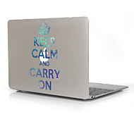 """Keep Calm and Carry On Design Print Pattern Hard Case for 12"""" The New Macbook with Retina Display"""