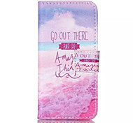 Pink Sea  Pattern PU Leather Phone Case For iPhone 5/5S