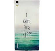 Sea Pattern TPU Material Soft Phone Case for Huawei P7