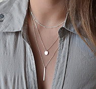 European Style Fashion Simple Metal Multilayer Necklace