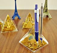 pyramidenförmigen Federhalter Neuheit Desktop Sachen (gelegentliche Farbe)