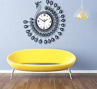 Fashionable Creative Modern Luxurious Peacock Sitting Room Wall Clock