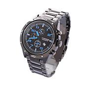 montre à quartz montre-bracelet analogique le calendrier montre de sport pour hommes