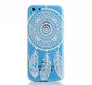 Campanula Pattern TPU Material Phone Case for iPhone 5C