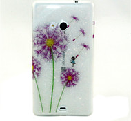 For Nokia Case Pattern Case Back Cover Case Dandelion Soft TPU Nokia Nokia Lumia 535