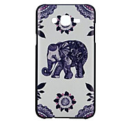 Elephant pattern PC Phone Case For Galaxy J7 /G530