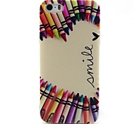 Pencil Heart Pattern TPU Material Soft Phone Case for iPhone 5/5S