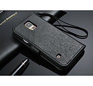 Original Leather Strip Wave Wallet Pattern Full Body Case with Card Holder for Samsung Galaxy S5 I9600 (Assorted Color)