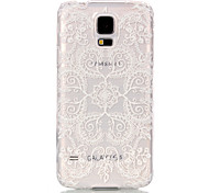 Peacock Flower Pattern Transparent PC Material Phone Case for Samsung GALAXY S6 /S6 edge/S5/S3Mini/S4Mini/S5Mini