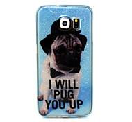 Hundemuster Funkelns TPU Material weich Telefonkasten für Samsung S-Serie