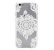 White Pattern PC Material Phone Case for iPhone 6