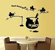 стены стикеры стены наклейки стиль сладкий мед пчелы английских слов&цитирует наклейки ПВХ стены