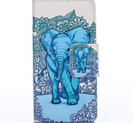 Elephant Pattern with Card Bag Full Body Case for Huawei P8